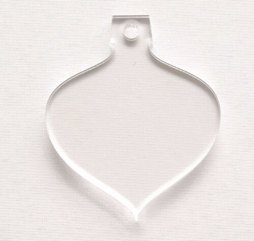 """25 ACRYLIC CHRISTMAS ORNAMENTS BLANK BUBBLE 1//8/"""" THICK SELECT SIZE /& COLOR"""