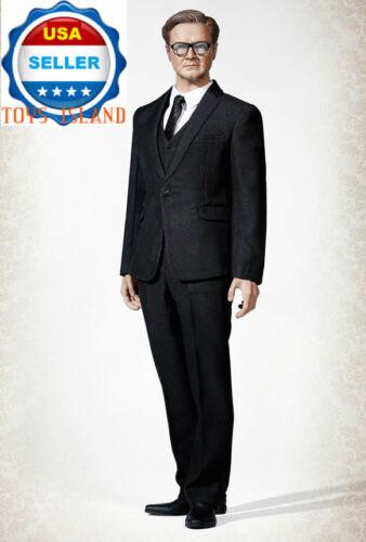 "1//6 Men Business Suit Set Black Color For 12/"" Hot Toys PHICEN Male Figure ❶USA❶"