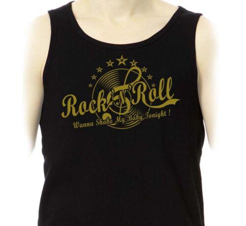 Débardeur ROCK/'N/'ROLL 50/'s Fifties Retro Rockabilly SUN Elvis Marcel Tank Top