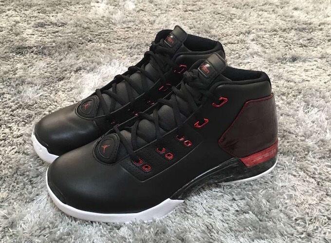 Nike Air Jordan Retro XVII 17+ Chicago BULLS 2016 Bred Black Red 832816-001 8-13