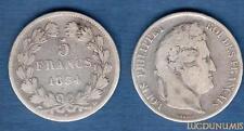Louis Philippe Ier 1830-1848 – 5 Francs Tete Laurée 1834 BB Strasbourg TB