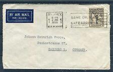 Luftpostbrief Australien 1´6 Sh´P EF von Sydney nach Hamburg - b5098