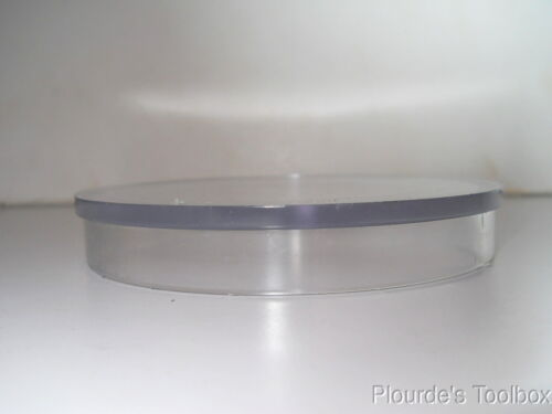 """4-1//2/"""" Flange Unbranded Clear Acrylic 4-3//8/"""" OD x 1//2/"""" Flanged Lid Cover"""