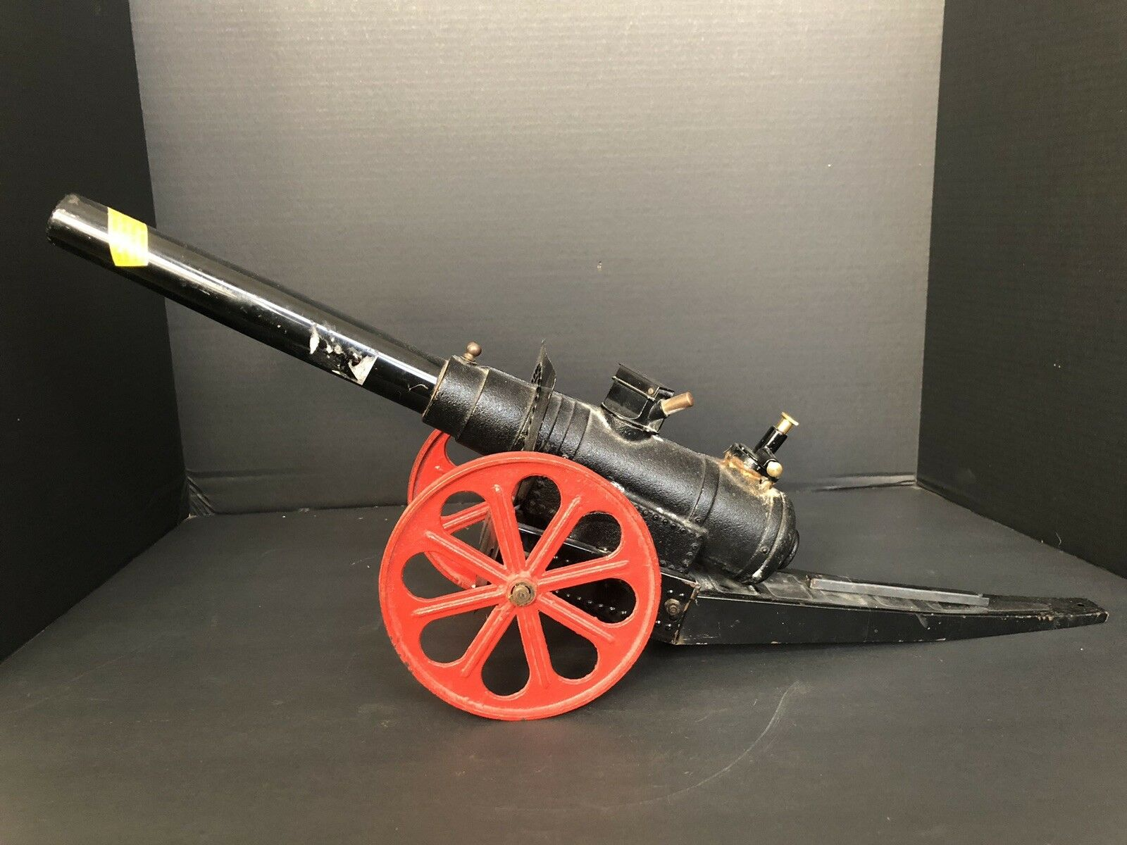 "Large Heavy Vintage Vintage Vintage Cast Iron & Metal 25"" Toy Cannon aef89b"