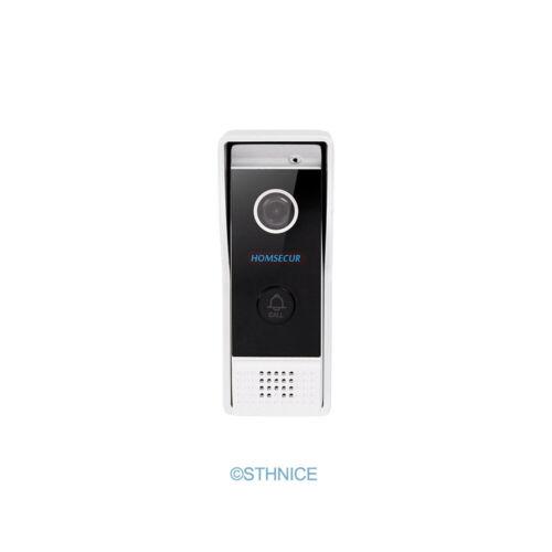 HOMSECUR Video/&Audio Smart Doorbell Silver Camera with Electric Strike Lock Set