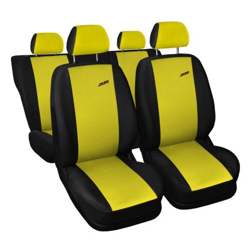 UNIVERSALE Coprisedili auto per Fiat Punto Giallo Coprisedili Coprisedile rivestimenti XR
