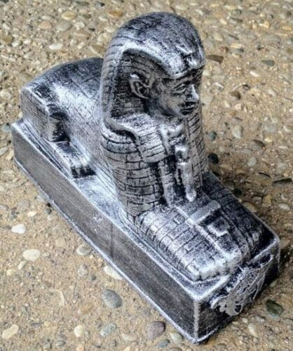 Masonic Shriners Sphinx Bookends in Silver Finish