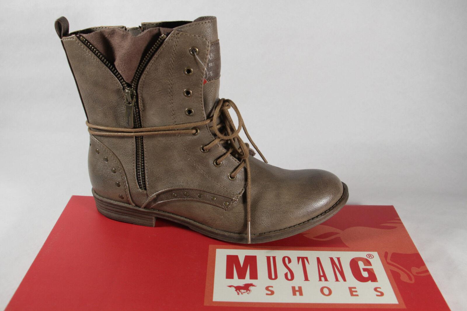 Mustang Stiefel, NEU Stiefeletten Boots, braun pfeffer NEU Stiefel, 865e25