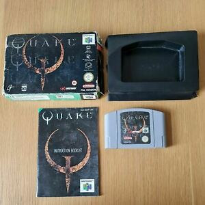 Quake NINTENDO 64 N64 PAL Juego en Caja Completa Con Manual Gratis P&P
