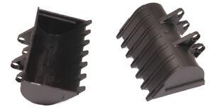 LEGO-Technik-2-x-Baggerschaufel-8x10-schwarz-Digger-Bugget-2951-NEUWARE