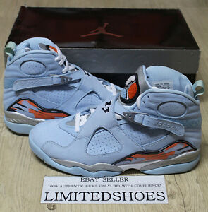 super cute 6ff84 5f560 Image is loading NIKE-WMNS-AIR-JORDAN-8-VIII-RETRO-ICE-