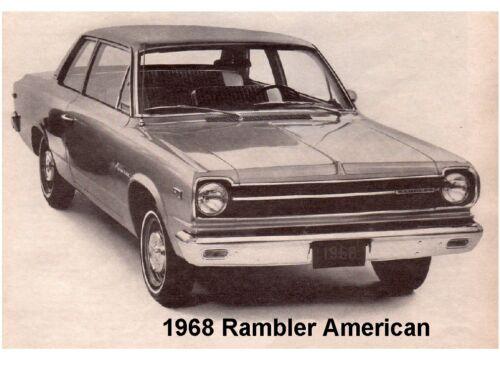 1968 Rambler American Auto Refrigerator Tool Box Magnet Gift Card Insert