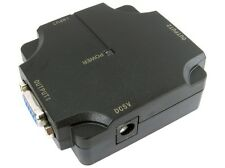 2 Port SVGA Splitter 500 MHZ USB Powered VGA Signal Video Monitor Splitter Box