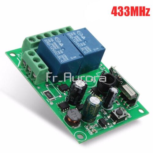 AC 220V 10A 433MHz 2CH Channel Wireless RF Relay Remote Control Switch Receiver