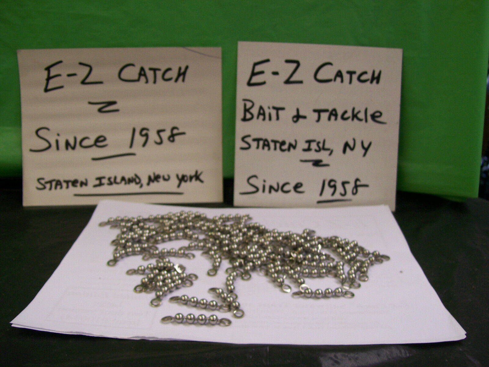 Bead Chain Fishing Swivels Stainless Steel 165 lb.  Test Lot of 77 pieces 1-3 4   online sale