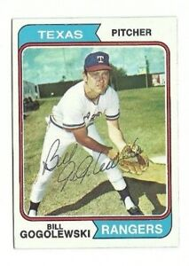 Bill Gogolewski 1974 Topps auto autographed signed card Rangers