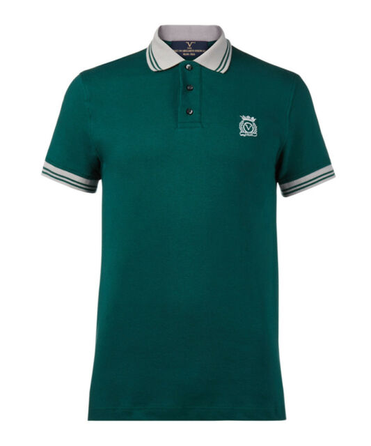 0e803b8d2496d3 Men Polo shirt Versace 1969 abbigliamento sportivo 19V69 Italia Size L  green NWT