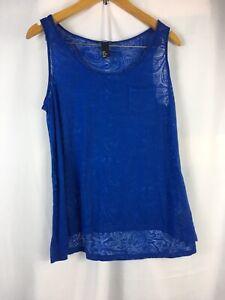 Womens-H-amp-M-Size-M-Tank-Top-Vest-Cami-Blue-sleeveless-blouse