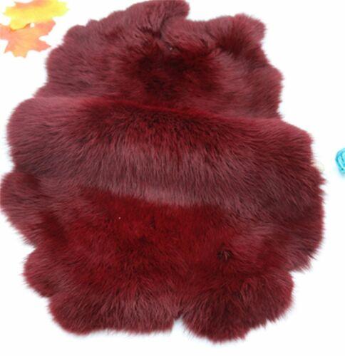 1-10Pcs 100/% Natural Genuine Rabbit Fur Hide Various Colors Tanned Leather Hides