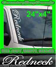 REDNECK Vertical Windshield Vinyl Decal Sticker Truck Car Diesel Hillbilly South