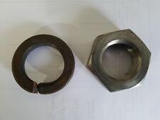 One 1 Set Of Bush Hog 38bh Jam Nut 1 14 Nf And 37bh Lock Washer Kit
