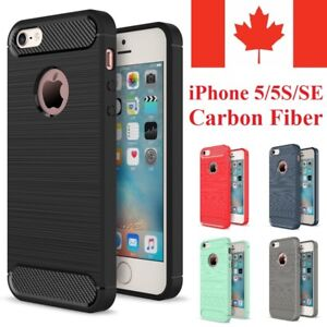 For-iPhone-5S-5-Case-amp-iPhone-SE-Case-Shockproof-Carbon-Fiber-Soft-TPU-Cover