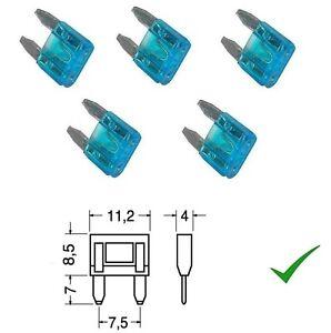 Mini fusibili a lamella per auto fusibili 11/mm