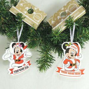 DISNEY-Ornament-MICKEY-o-MINNIE-beschrif-Baumschmuck-Christbaum-Weihnachten
