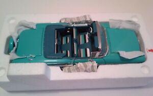 Danbury-Mint-1958-Chevrolet-Impala-Convertible-Turquoise-Die-Cast-1-24-Scale