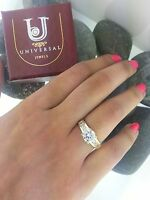 Solid 14k Yellow Gold 1.5 Ct Round Cut Diamond Engagement Ring Bridal Wedding