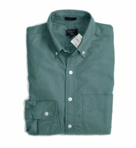 J-Crew-Factory-Men-039-s-M-Slim-Fit-NWT-Telluride-Green-Oxford-Cotton-Shirt