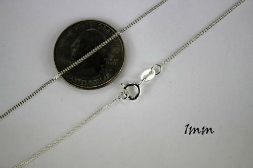 ".925 Sterling Silver Cuban Link Chain Necklace 1mm ~ 13mm Men Women 16/"" ~ 40/"""