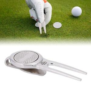 Golf-Green-Divot-Repair-Tool-Golf-Ball-Marker-Putting-Fork-Pitch-Groove-Cleaner