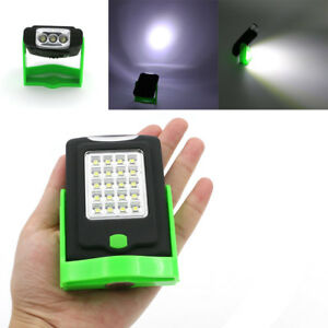 23-LED-Work-Light-Magnetic-Folding-Hook-Hanging-Lamp-Flashlight-Torch-W-Holder