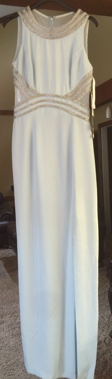 Crystal bluee Peak Evenings Size 2 Gown Pageant Prom Dress