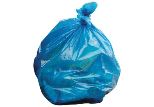 "BLUE REFUSE SACKS//BAGS BIN LINERS BAG RUBBISH UK MADE 100G LARGE 18/""x29/""x39"