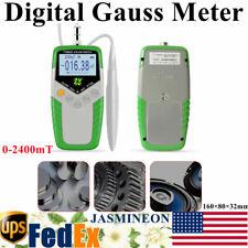 Digital Gauss Meter Surface Dc Magnetic Field Tester Magnetic Flux Meter New