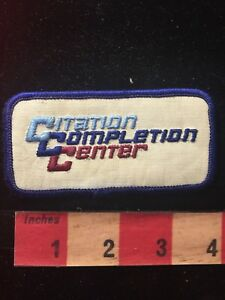 Vtg CESSNA CITATION COMPLETION CENTER Airplane Patch