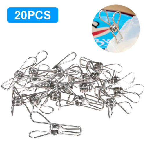 Upto 150x Stainless Steel Clothes Pegs Hanging Clip Pins Laundry Windproof Clamp