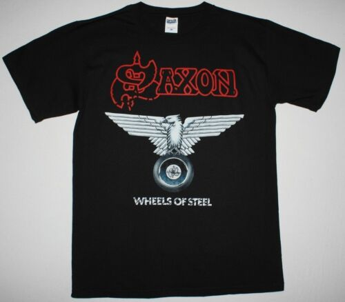 Saxon Wheels Of Steel 1980 NWOBHM NEW Black T-Shirt