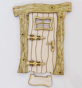 Christmas wooden fairy elf doors diy 3d kit craft for Wooden fairy doors to decorate