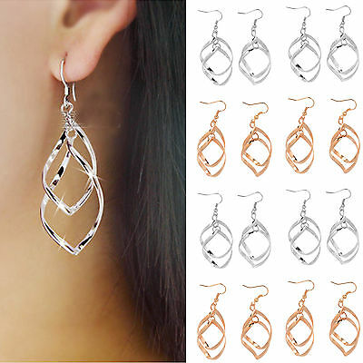 Wholesale 10pair Lots Silver Plated Stylish Ear Stud Hoop Dangle Earring Jewelry