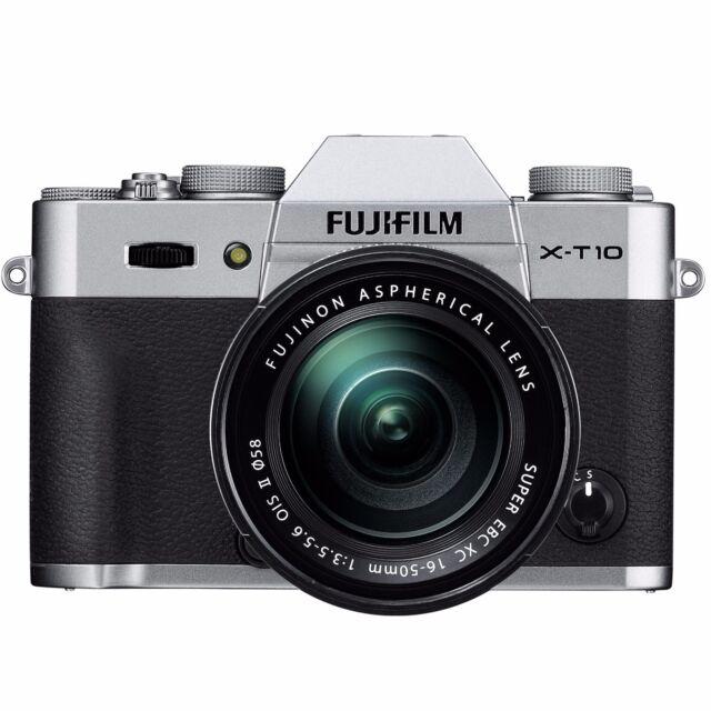 Fujifilm X-T10 Mirrorless 16.3MP Digital Camera + 16-50mm Lens II (Silver)