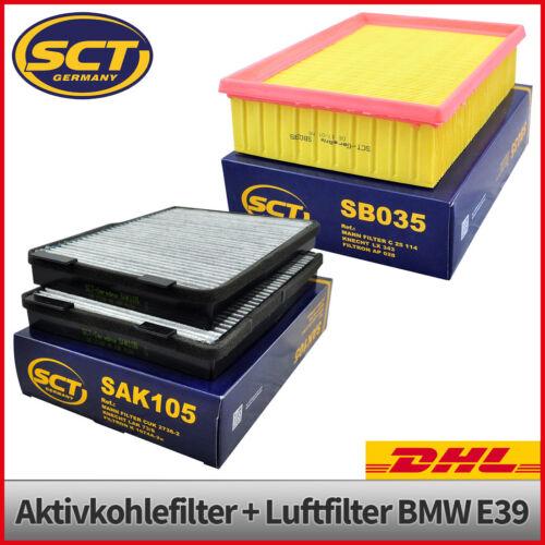 Intérieur Filtre Micro-Filtre Pollen Filtre charbon actif Filtre à Air Bmw 5er e39