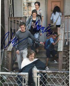 Amiable Emma Kenney & Jeremy Allen White Dual Shameless Signed 8x10 Photo W/coa #3 Quality And Quantity Assured Television Entertainment Memorabilia