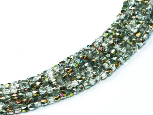 2mm,3mm,4mm /& 6mm Sizes Crystal Vitrail Czech Fire Polished Beads
