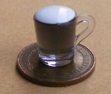 1:12 handmade caffè irlandesi in un vetro di plastica Casa Bambole Miniatura PUB DRINK HW