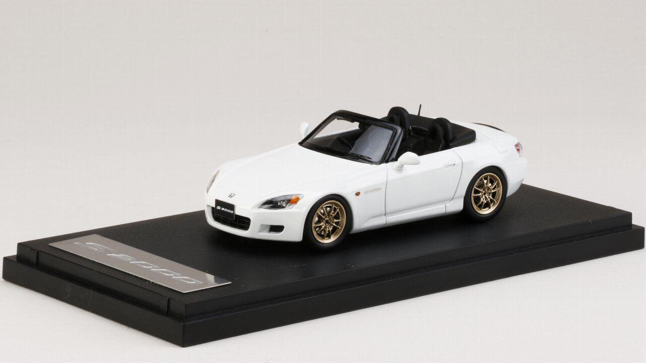 PM4397MW MARK43 1:43 Honda S2000 AP1 1999 MUGEN MF10 L GP White