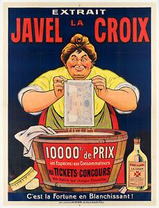 Affiche Originale - Eugène Ogé - Javel - Lacroix - Concours - Paris - 1914