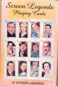 PLAYING-CARDS-SCREEN-LEGENDS-ABSOLUTE-MINT-CONDITION-PRODUCED-1991-STAMFORD-USA